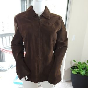 Boston Harbour Leather Jacket Nwot XL
